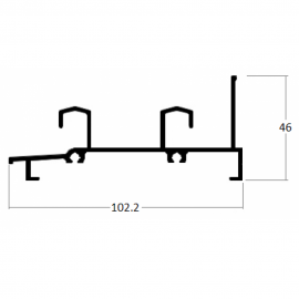 LG047 - TRILHO INFERIOR 2 FOLHAS