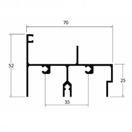 E186 - TRILHO SUPERIOR 2 FOLHAS