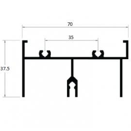 E482 - TRILHO SUPERIOR 2 FOLHAS